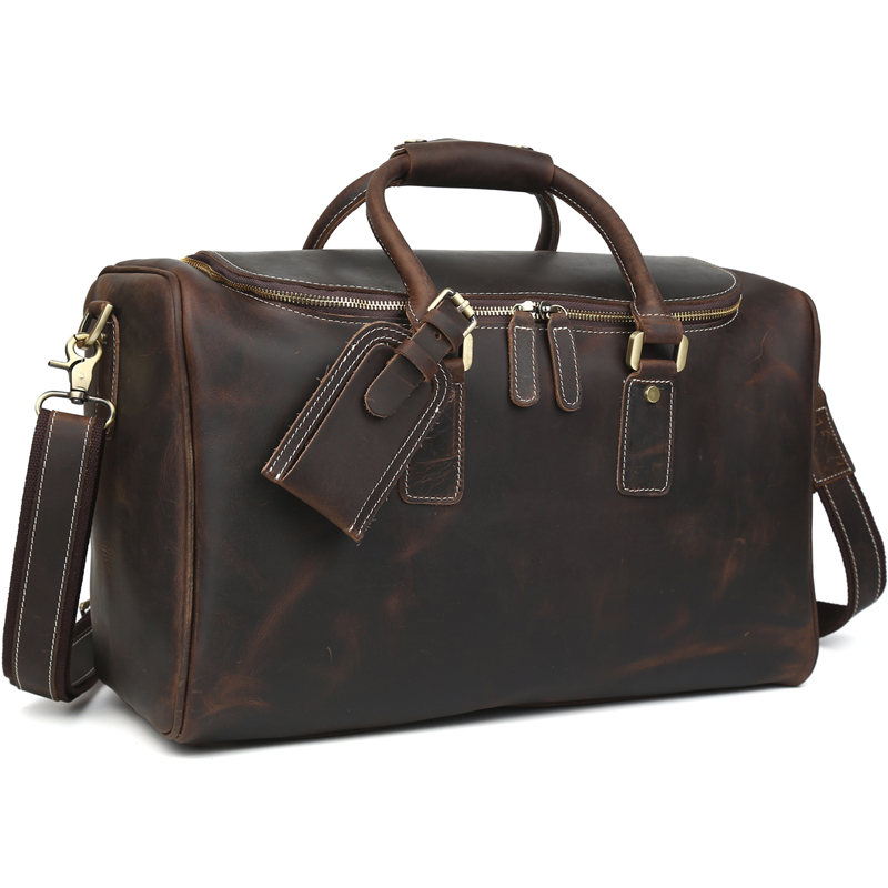 Us 149 0 Tiding Leather Travel Suitcase Duffle Bag For Men Designer Weekend Top Quality 11526 In Bags From Luggage On