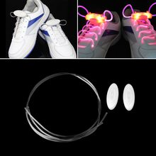 2017 Hot LED Sport Shoe Laces Flash Light Glow Stick Strap Shoelaces Disco Party Club Big Selling New(China)