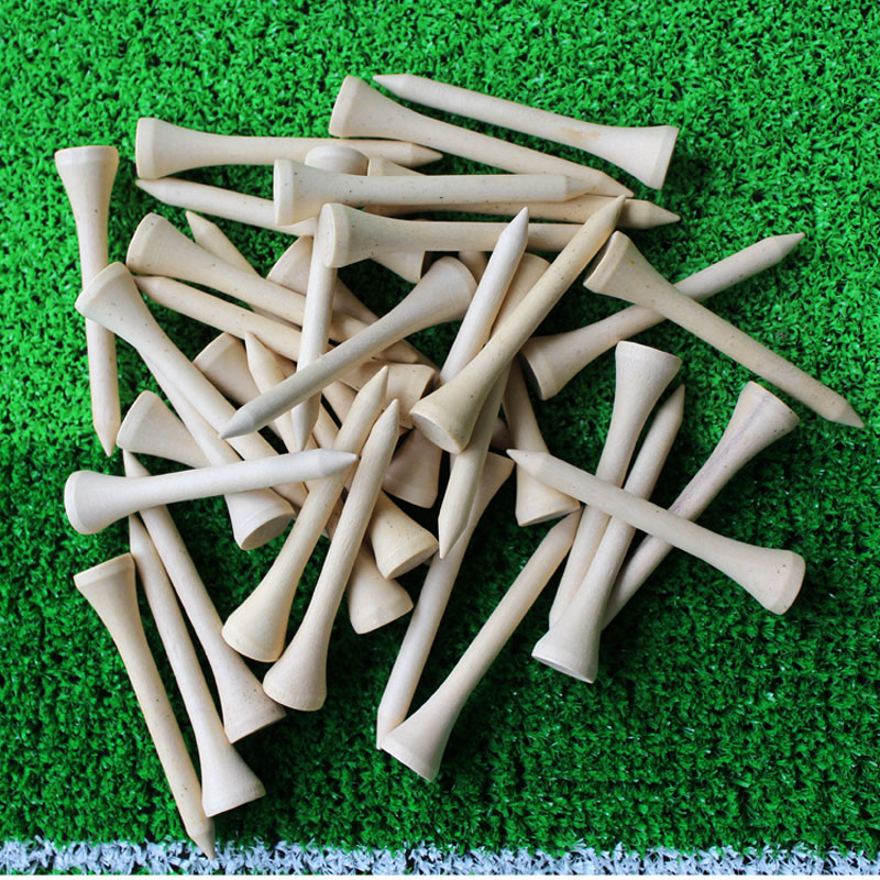 2017 Brand New Free Shipping 50pcs/lot 54mm Golf Ball Wood Tees Wooden Golf Accessories Wholesale