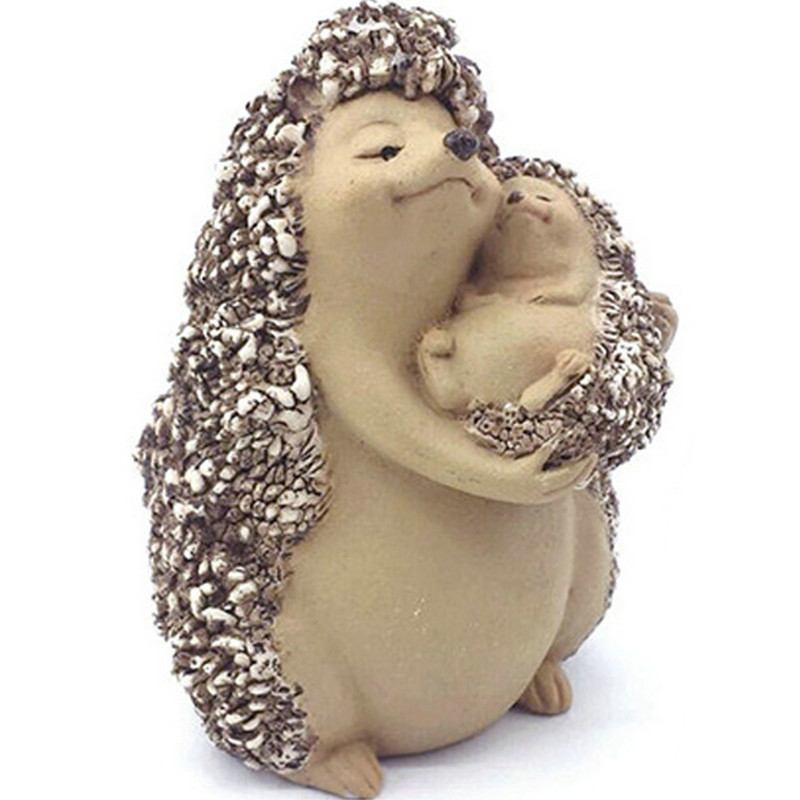 New small hedgehog creative animals Decoration home garden resin display children gifts family