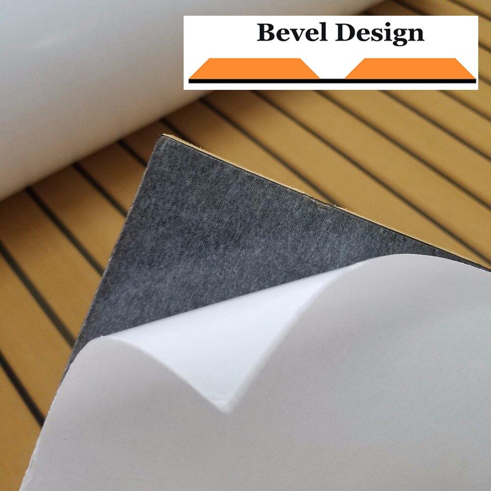 """מערכות ניווט שדרג טיק הסיפון גיליון עבור אביזרים תלוש שטיחים ריצוף ימית סירה יאכטה EVA ללא Mat 90cm240cm / 35.4 """"94.5"""" צהוב בראון (2)"""