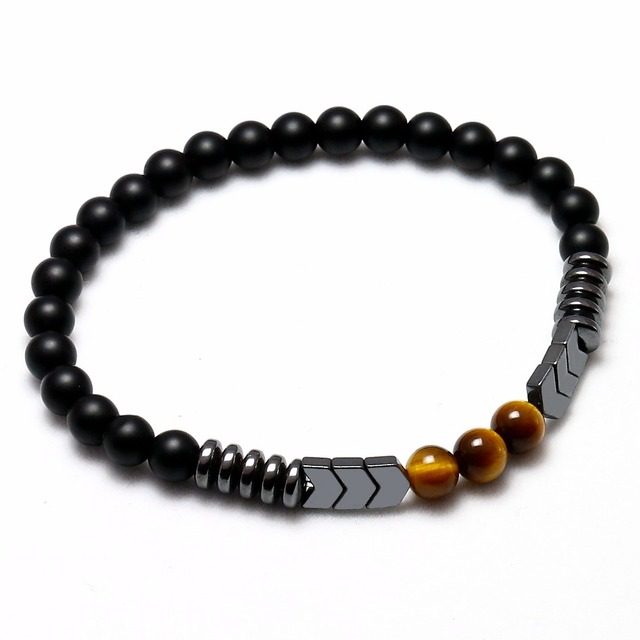 Men's Natural Matte Black Bracelet
