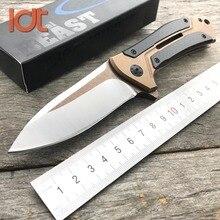 Ldt 0801 faca militar m390 lâmina alça de aço tático acampamento surivial utilitário facas resgate bolso ao ar livre faca edc ferramenta