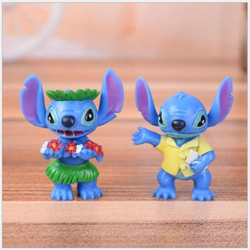 New Arrival 6pcs/lot Mini Stitch Toy Anime Cartoon Lilo & Stitch PVC Action Figure Toys Doll Collectible Model Toy Gift for Kid