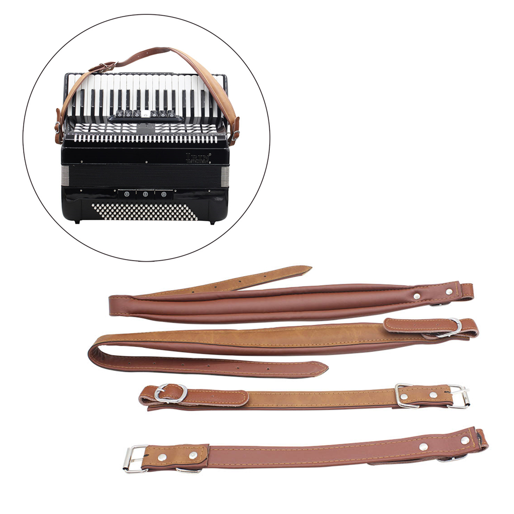 1 Pair! Adjustable Synthetic Leather Accordion Shoulder Straps For 16-120 Bass Accordions Musical Instruments Parts Accessories