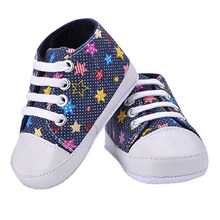 Girl's Boy's Rainbow Canvas Shoes Soft Prewalkers Infant Anti-Slip Baby Shoes(China)