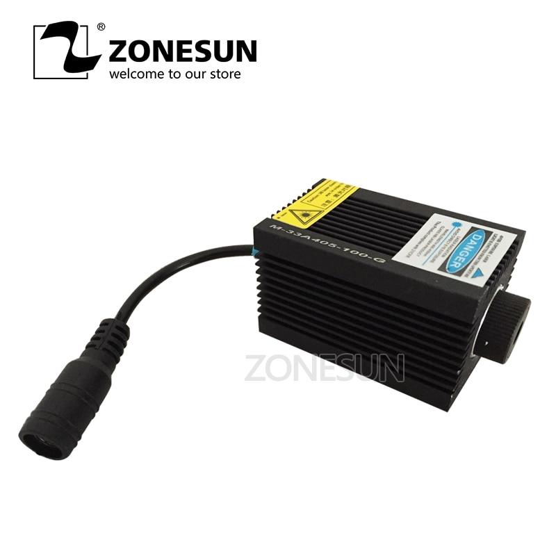 ZONESUN 7w 7000mw High-power DIY Laser Engraving Laser Module Blue Light 450nm Laser Head For Laser Machine