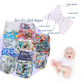 double rows snaps cloth diaper with new prints,kawaii baby diaper with pocket,reusable,washable diaper