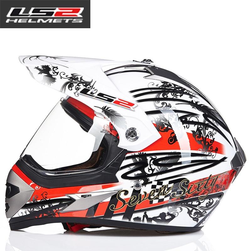 LS2 MX433 внедорожный мотоциклетный шлем с ветрозащитным щитом мотокросса шлемы костюм для мужчин и женщин одобренный ECE - Цвет: 2