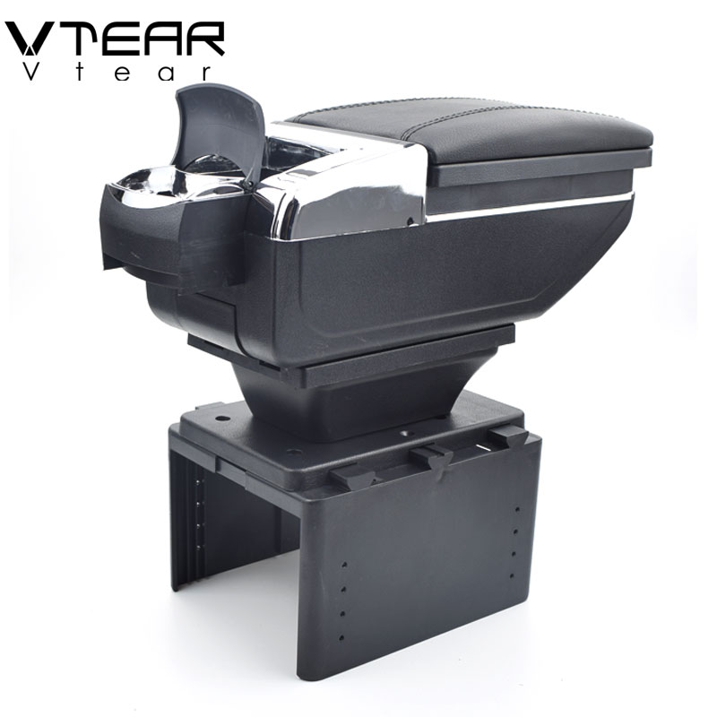Vtear For Nissan Kicks armrest box central content storage box cup holder ashtray interior car-styling decoration Accessories for suzuki jimny armrest box jimny2007 2018universal car central armrest storage box cup holder ashtray modification accessories