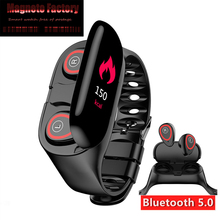 MFS M1 Smart Watch For Women Men With Bluetooth Headphone Hate Rate Blood Pressure Monitor Sport SmartWatch Android IOS