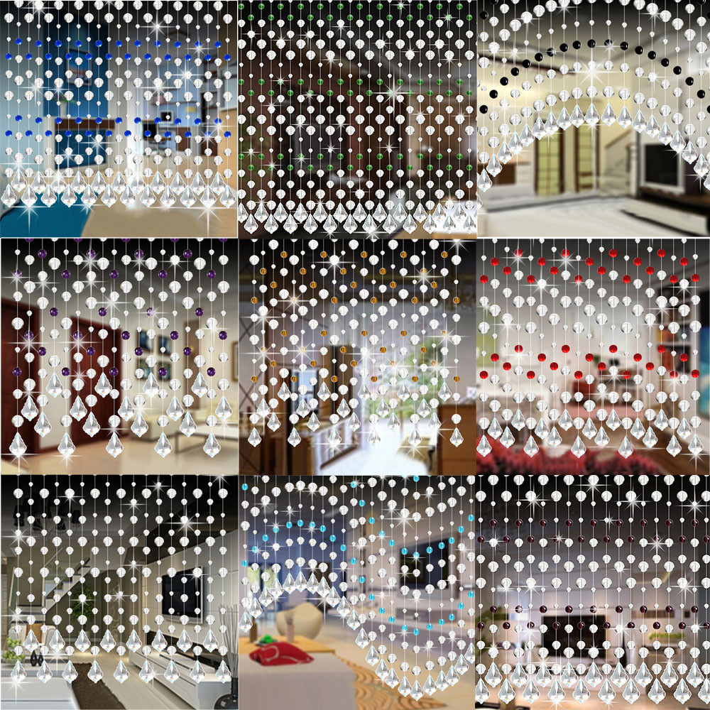 2018 1m Hanging Crystal Glass Bead Curtain Luxury Living