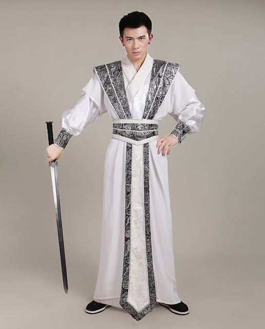 d799352f2 Chinese Traditional Costume for Men Ancient Swordsman Cosplay Costume Male  National Hanfu Costume Tang Suit Robel