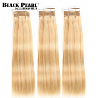 Pre Colored Balayage Blonde Human Hair Bundles Indian Straight Hair Weave 1 Bundle P27613 Hair Extensions 100g Hair Weft