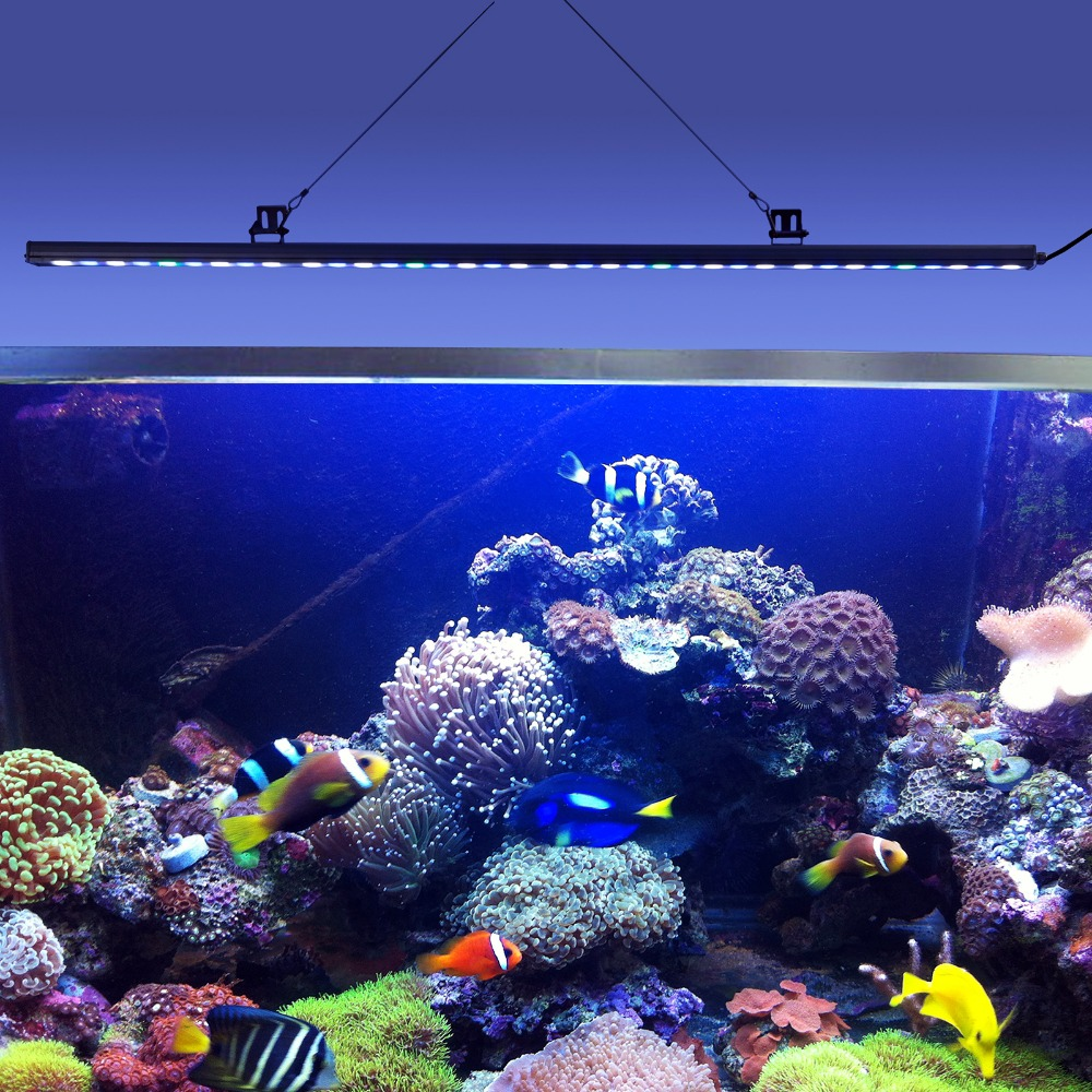 5pcs/lot 108W IP65 Waterproof LED Aquarium Light Bar Strip Lamp For Salt/Freshwater Reef Coral Growth/Plant Fish Tank Lighting 10pcs lot 54w 18 3w waterproof led aquarium bar light strip lamp for reef coral growth plant fish tank lighting marine