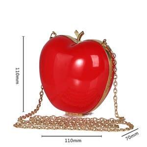 Image 2 - מכירה לוהטת חדש הגיע פירות בצורת תיק חמוד מצחיק נשים ערב תיק מסיבת חתונת מצמד ארנקי שרשרת כתף תיק צבעוני