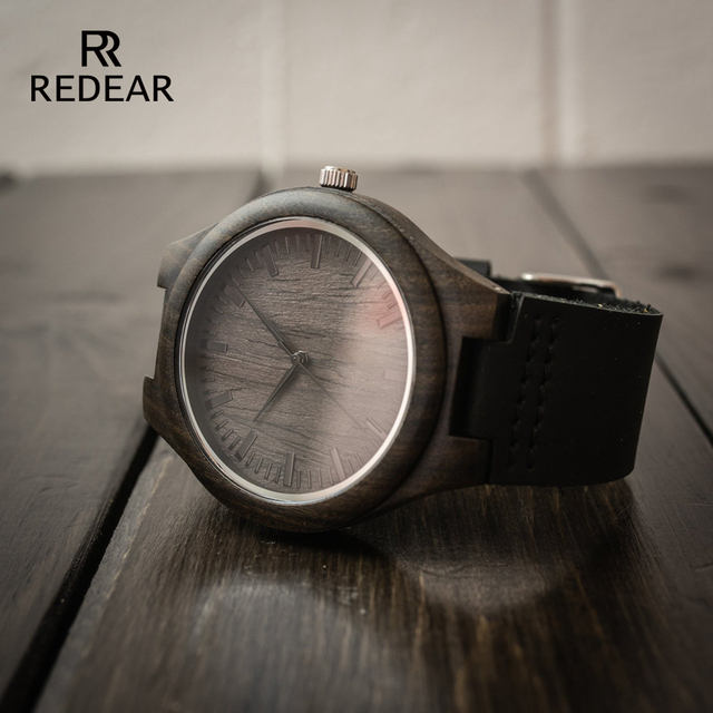 Engraved Wooden Watch for Men Boyfriend Or Groomsmen Gifts Black Sandalwood Customized Wood Watch Birthday Gift for Him  3