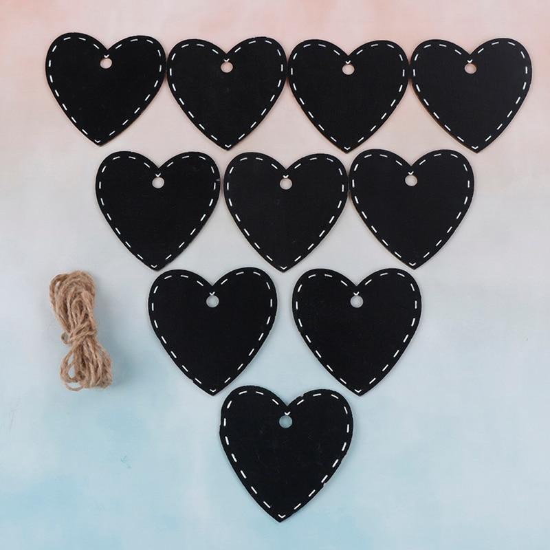 10pcs Party Decoration Heart Chalkboard Notice Writing ...