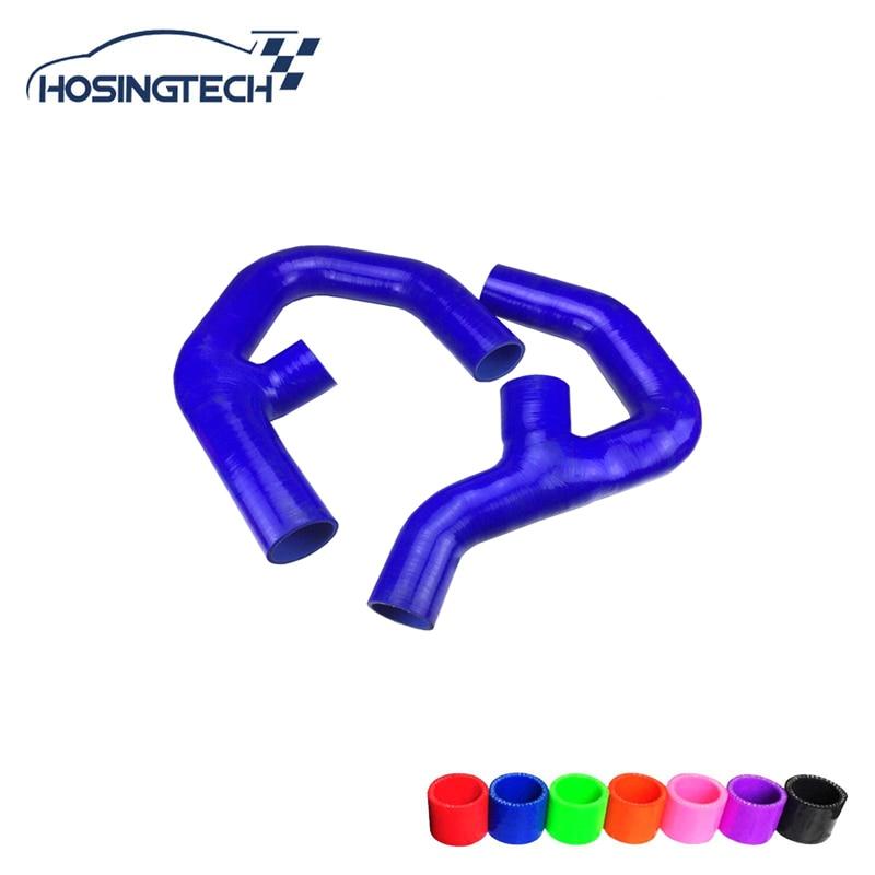 HOSINGTECH-for Volkswagen GOLF MK5 GTI /Sagitar 1.8 TSI// Scirocco 2.0 TSI / Touran 2.0L turbo silicone intercooler hose ki 3 76mm turbo intercooler pipe3 chrome aluminum piping pipe tube t clamps silicone hoses