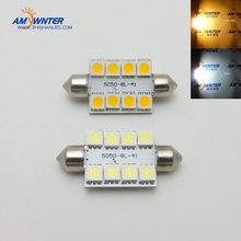 c5w Car ship Lights Interior Bulb warm white Reading Lights Bulb Lamp Auto Replacement Parts Car 10-30VDC 8 SMD LED 5050 41mm