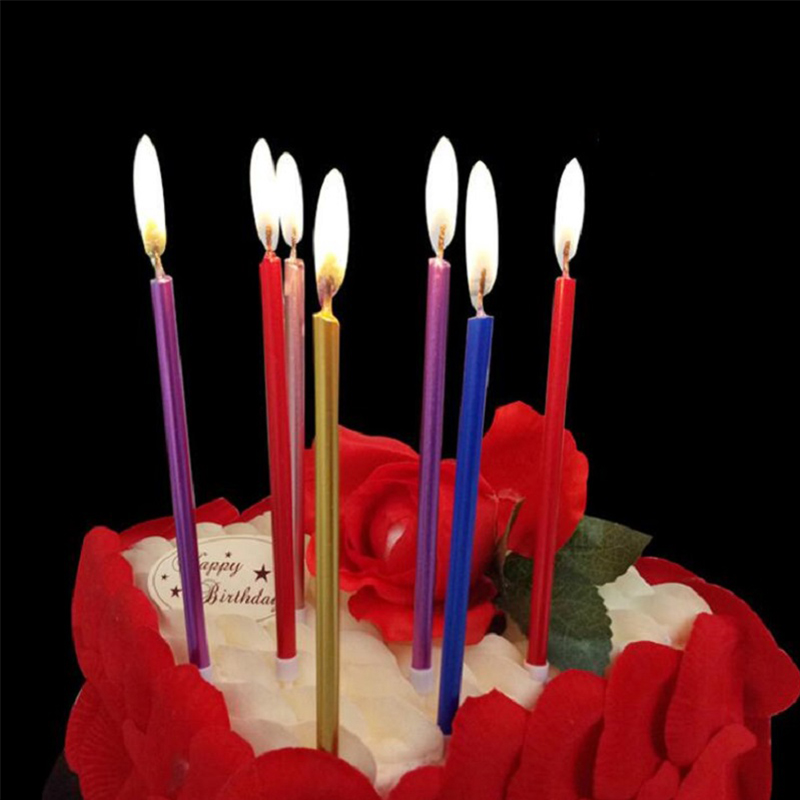 10 Packs 40 Pcs Of Birthday Wedding Bottle Cake Party Candles Smokeless Indoor Outdoor Use