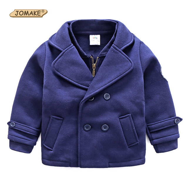 Wool Coat For Boys Woolen Outerwear Boys Winter Jacket Children Clothing 2017 Double Breasted Wool Coat Child Boys Winter Coats