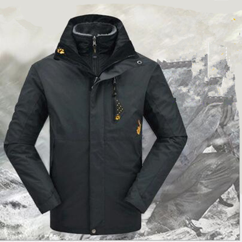 Men Woman Waterproof Winter 3in1 Windproof hiking fishing skiing climbing Camping Mountain cycling trekking Outdoor Jacket