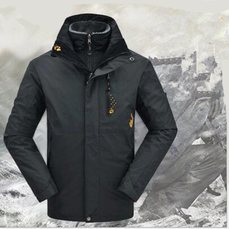 купить Men Woman Waterproof Winter 3in1 Windproof hiking fishing skiing climbing Camping Mountain cycling trekking Outdoor Jacket онлайн