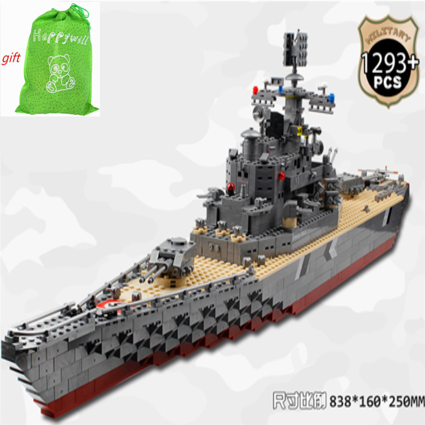 Happywill 82012 Military Building Block Set Compatible Bismarck battleship Construction Brick Educational Hobbies Toys for Kids ba904 academy wwii german artwox battleship bismarck wood deck aw10047