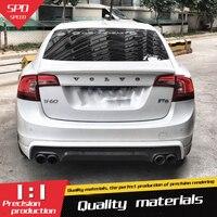 Спойлер для Volvo S60 ABS Материал заднее крыло автомобиля праймер цвет задний спойлер для Volvo S60 s60l S60L спойлер 2012-2017