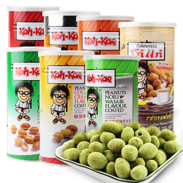 Thailand imported specialty foods Brother peanuts peanut coconut milk flavored with mustard chicken flavor snack taste optional