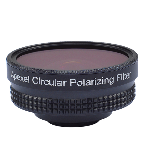 APEXELProfessional 4K Wide lens circular polarizing Filter 16mm HD super wide angle lens for iPhone 6s plus 7 HTC more phone 3