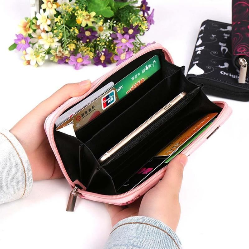 Plånböcker Lovely Printing Women Wallet Ladies Clutch Change Mynt - Plånböcker - Foto 2