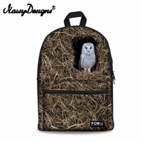 Noisydesigns Lovely birds 3D Printing Shoulder Backpack for Teen students kid gifts bag Customize image Children Schoolbag