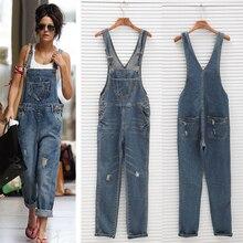 Fashion Women Denim Jumpsuit Ladies Spring Fashion Loose Jeans Rompers Female Ca
