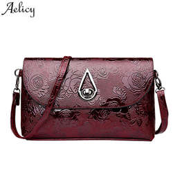 Aelicy High Quality Patent Leather Women Bag Ladies Cross Body Messenger Shoulder Bags Vintage Handbags 2018 Bolsa Feminina