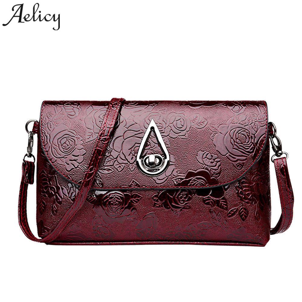 Aelicy Hohe Qualität Patent Leder Frauen Tasche Damen Cross Body Messenger Schulter Taschen Vintage Handtaschen 2018 Bolsa Feminina