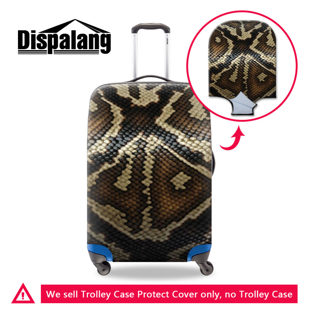 Snakeskin 3D Printing Travel Bagage Beskyttelses Cover til 18-30 Inch Suitcase Stretch Bagage Case Cover Elastisk Trolley Cover