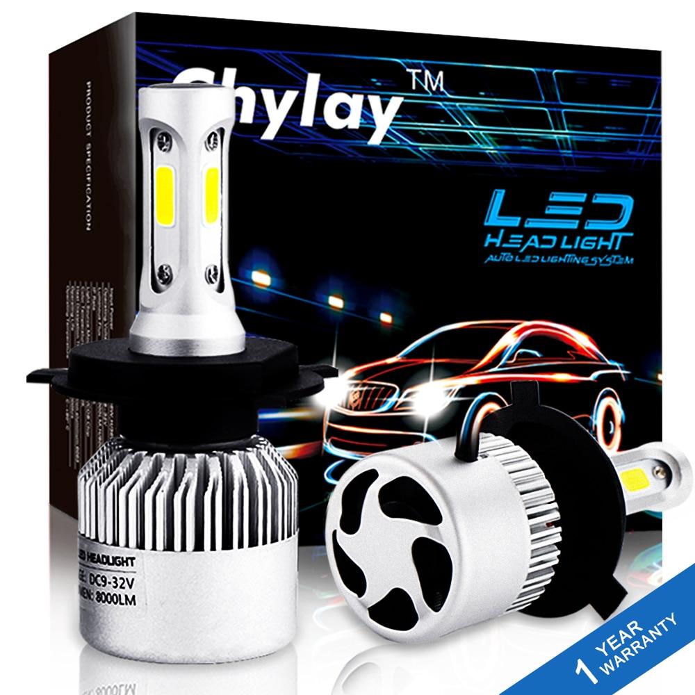 2 pz H7 LED H4 H11 H1 Auto Lampadine Del Faro S2 Standard Serie H3 H8 HB3 HB4 881 LED Nebbia luce 72 w 8000LM 6500 k Bianco Car Styling