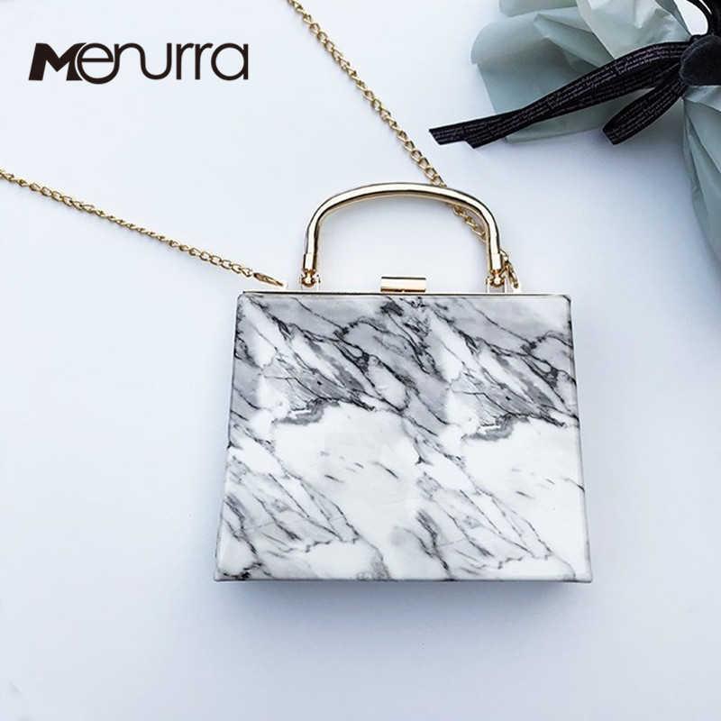 96046b6496de Женская вечерняя клатч Новый уникальный мрамор полосатый сумка элегантный  кошелек мода Bolsa Feminina металлическая цепь для