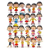 24pcs Lot Chibi Maruko Chan Figures 3 5cm PVC Collection Chibi Maruko Chan Toys Action