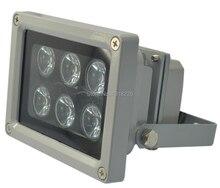 Free shipping 15,30,45,60,90degrees Array IR illuminator infrared lamp 6pcs ArrayLed IR Light Outdoor Waterproof for CCTV Camera