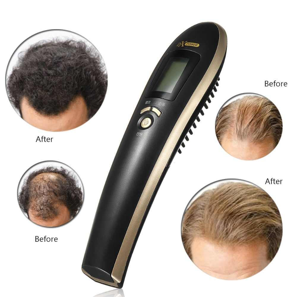 Electric Anti Hair Loss Comb Infrared Vibration Massage Laser Stimulate Promote Hair Growth Care Brush Regrowth Massager