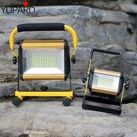 Yupard 100 w 50 w 홍수 빛 서치 스포트 라이트 밝기 led 손전등 야외 캠핑 18650 충전식 배터리 충전기 LED 손전등 등 & 조명 -