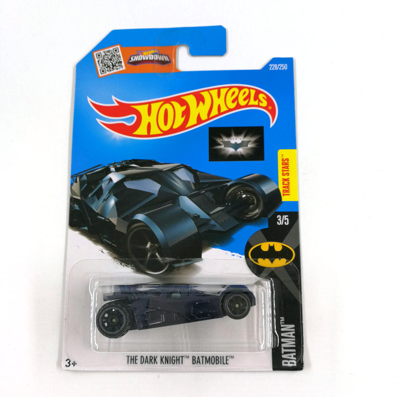 Hot Wheels 1:64 Car 2016 THE DARK KNIGHT BATMOBILE Collector Edition Metal Diecast Cars Collection Kids Toys Vehicle For Gift