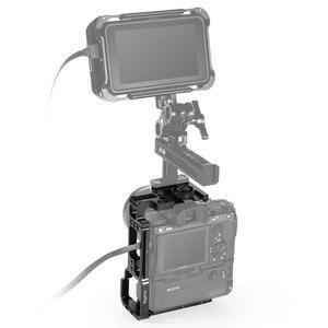 Image 4 - Sony A7III/A7RIII 카메라 및 배터리 그립 용 SmallRig L 브래킷 퀵 릴리스 하프 케이지 탑 플레이트 + L 플레이트 2341