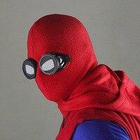 Homem-aranha Homem Aranha do Regresso A Casa Do Caseiro Terno Peter Park Cosplay Máscara Do Homem Aranha Marvel Superhero Costume Acessório para Adulto