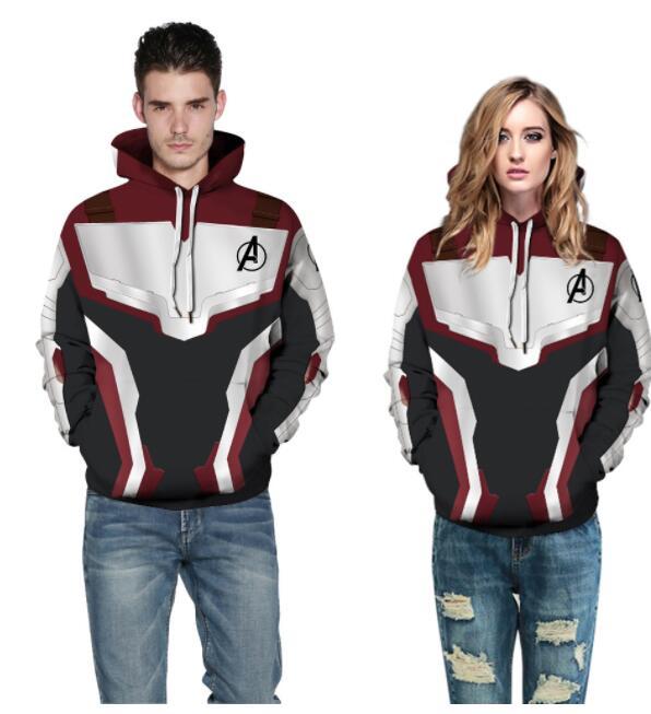 marvel Avengers Endgame Quantum Realm 3d hoodies sweatshirts Superhero Captain