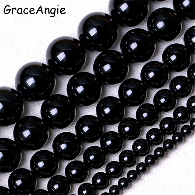 """Beautiful Black Onyx Gemstone Faceted Round Beads 15"""" 4mm 6mm 8mm 10mm 12mm 14mm"""