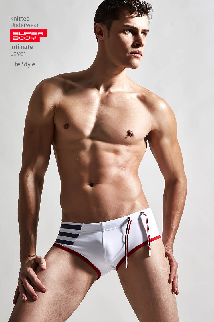 Topdudes.com - High Quality Low Rise Strips Nylon Swimwear